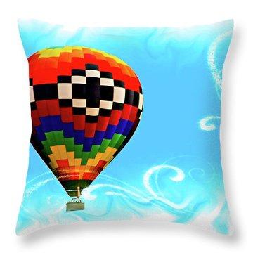 Throw Pillow featuring the digital art Breezy by Gary Baird