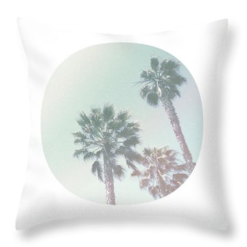 Breezy Palm Trees- Art By Linda Woods Throw Pillow