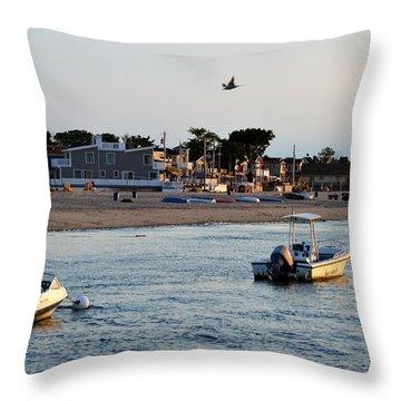 Breezy Point Bayside 2 Throw Pillow by Maureen E Ritter