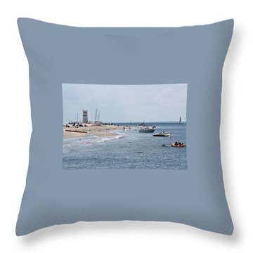 Breezy Point Lighthouse Throw Pillow