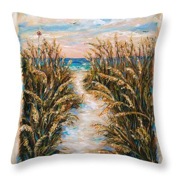 Breezy Sea Oats Throw Pillow