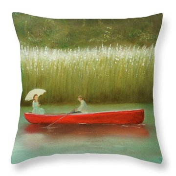 Breezy Spring Throw Pillow