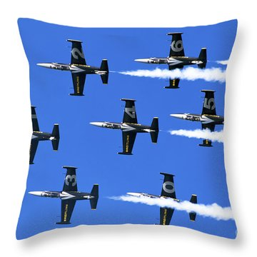 Breitling Air Display Team L-39 Albatross Throw Pillow by Nir Ben-Yosef