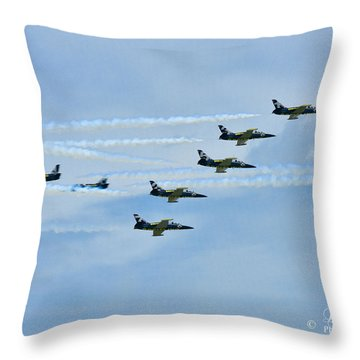 Throw Pillow featuring the photograph Breitling Air Show by Linda Constant