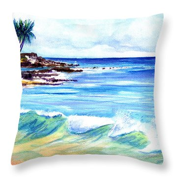 Brennecke's Beach Throw Pillow by Marionette Taboniar