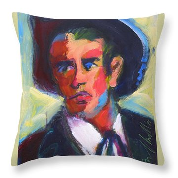 Throw Pillow featuring the painting Bret Maverick by Les Leffingwell