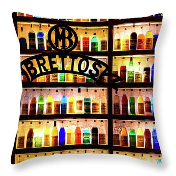 Brettos Bar In Athens, Greece - The Oldest Distillery In Athens Throw Pillow