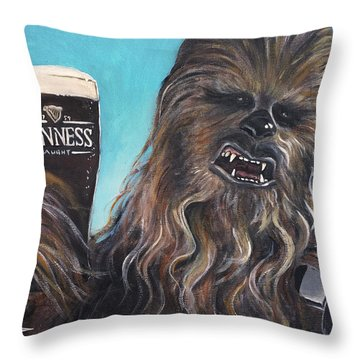 Brewbacca Throw Pillow