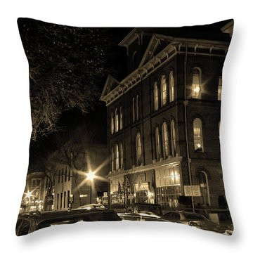 Throw Pillow featuring the photograph Market Street by Robert Geary