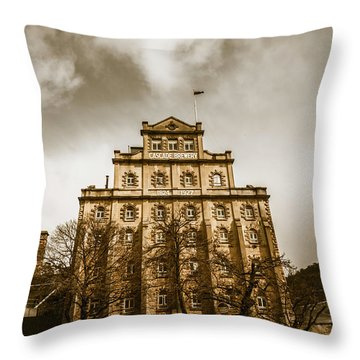 Brewery Building Throw Pillow