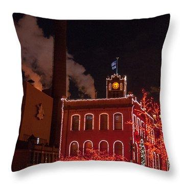 Brewery Lights Throw Pillow by Steve Stuller