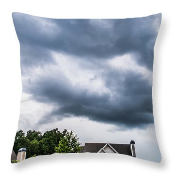 Brewing Clouds Throw Pillow