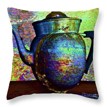 Brewing Nostalgia Throw Pillow by Gwyn Newcombe