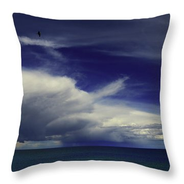 Throw Pillow featuring the photograph Brewing Up A Storm by Nareeta Martin