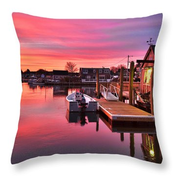 Brewsters In The South End Throw Pillow