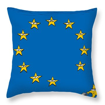 Brexit Eu Flag  Throw Pillow