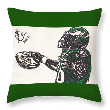 Brian Westbrook 2 Throw Pillow by Jeremiah Colley