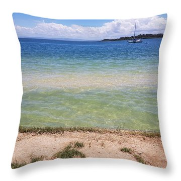 Bribie Ocean  Throw Pillow