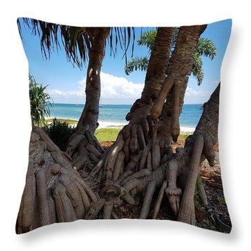 Bribie Trees  Throw Pillow