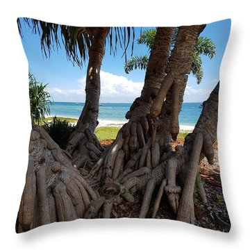 Bribie Trees  Throw Pillow