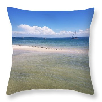 Bribie Waters Throw Pillow