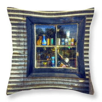 Throw Pillow featuring the photograph Bric-a-brac by Wayne Sherriff