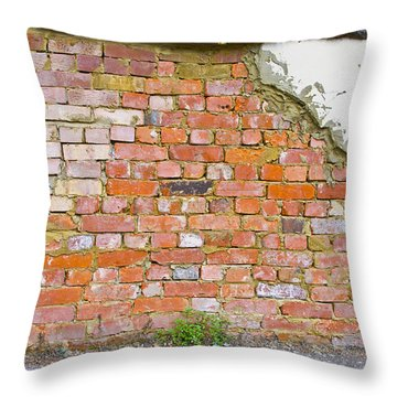 Throw Pillow featuring the photograph Brick And Mortar by Wanda Krack