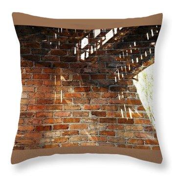 Brick And Rust Throw Pillow