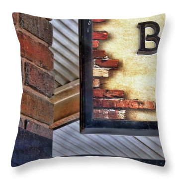 Throw Pillow featuring the photograph Brick Bar by Nikolyn McDonald