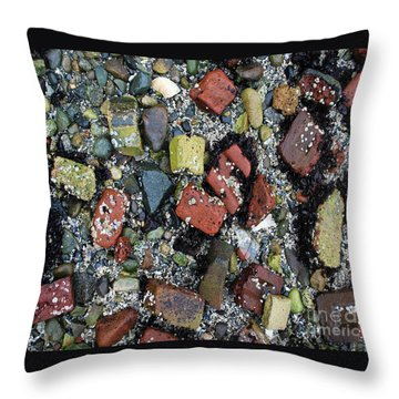 Throw Pillow featuring the photograph Brick Beach by Bill Thomson