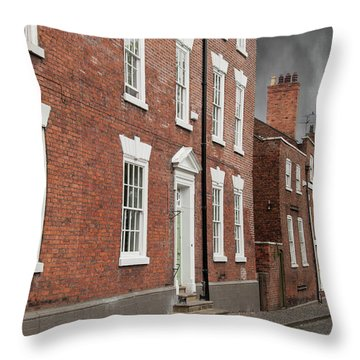 Throw Pillow featuring the photograph Brick Buildings by Juli Scalzi