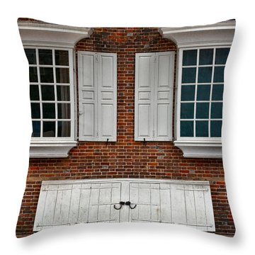 Brick Face Throw Pillow by Christopher Holmes