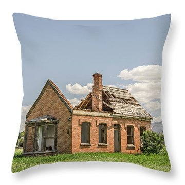 Throw Pillow featuring the photograph Brick Home In June 2017 by Sue Smith