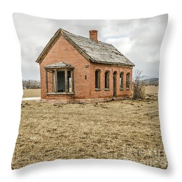 Throw Pillow featuring the photograph Brick Home In November 2015 by Sue Smith