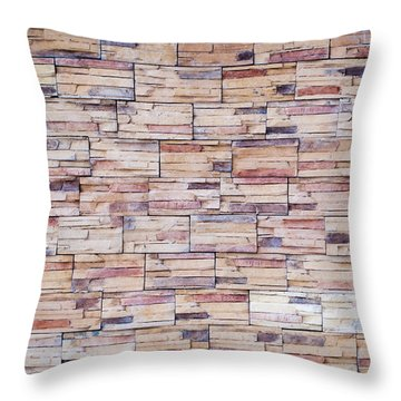 Throw Pillow featuring the photograph Brick Tiled Wall by John Williams