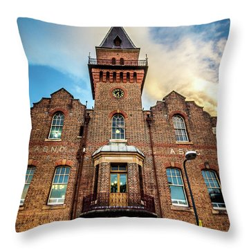 Throw Pillow featuring the photograph Brick Tower by Perry Webster
