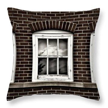 Throw Pillow featuring the photograph Brick Trio by Brad Allen Fine Art