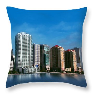 Brickell Skyline 1 Throw Pillow
