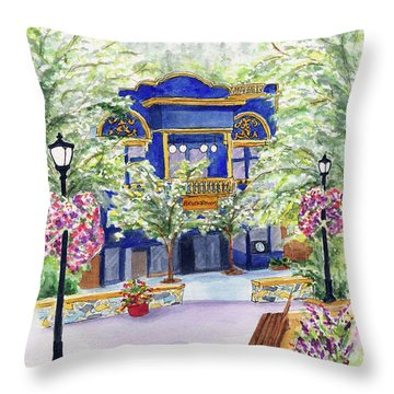 Brickroom On The Plaza Throw Pillow