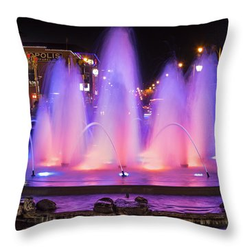 Bricktown Fountain Throw Pillow