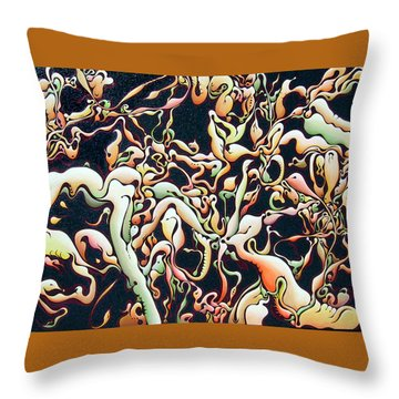 Bricolage With Cabbage Throw Pillow