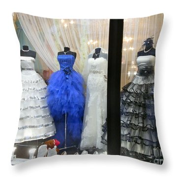 Bridal Fashion Of St. Petersburg Throw Pillow by Margaret Brooks