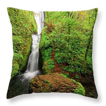 Throw Pillow featuring the photograph Bridal Veil Falls by Jonathan Davison