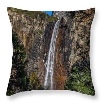 Bridal Veil Falls - My Original View Throw Pillow