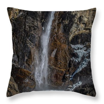 Bridal Veil Falls On Ice Throw Pillow