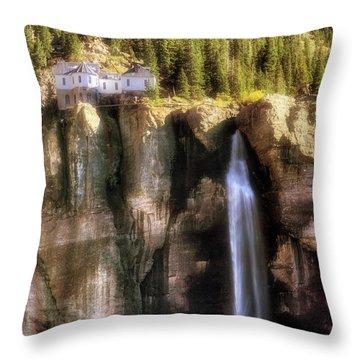 Bridal Veil Falls Power Plant - Telluride - Colorado Throw Pillow by Jason Politte