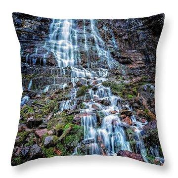 Bridal Veil Falls Utah Throw Pillow