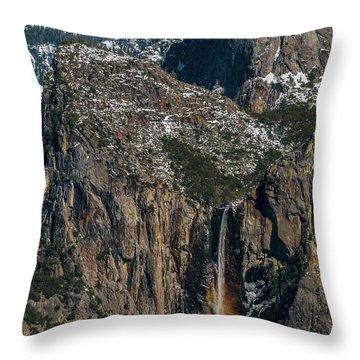 Bridal Veil Rainbow Throw Pillow