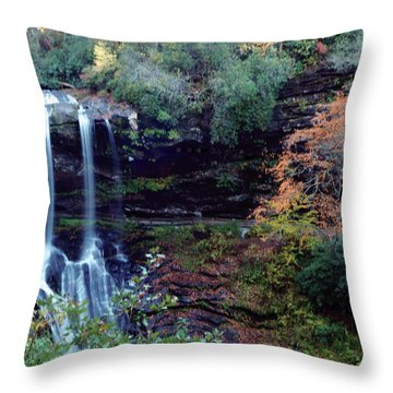 Bridal Veil Waterfalls Throw Pillow by Debra Crank
