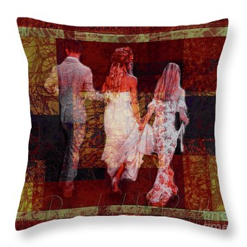 Bridal Walk Throw Pillow
